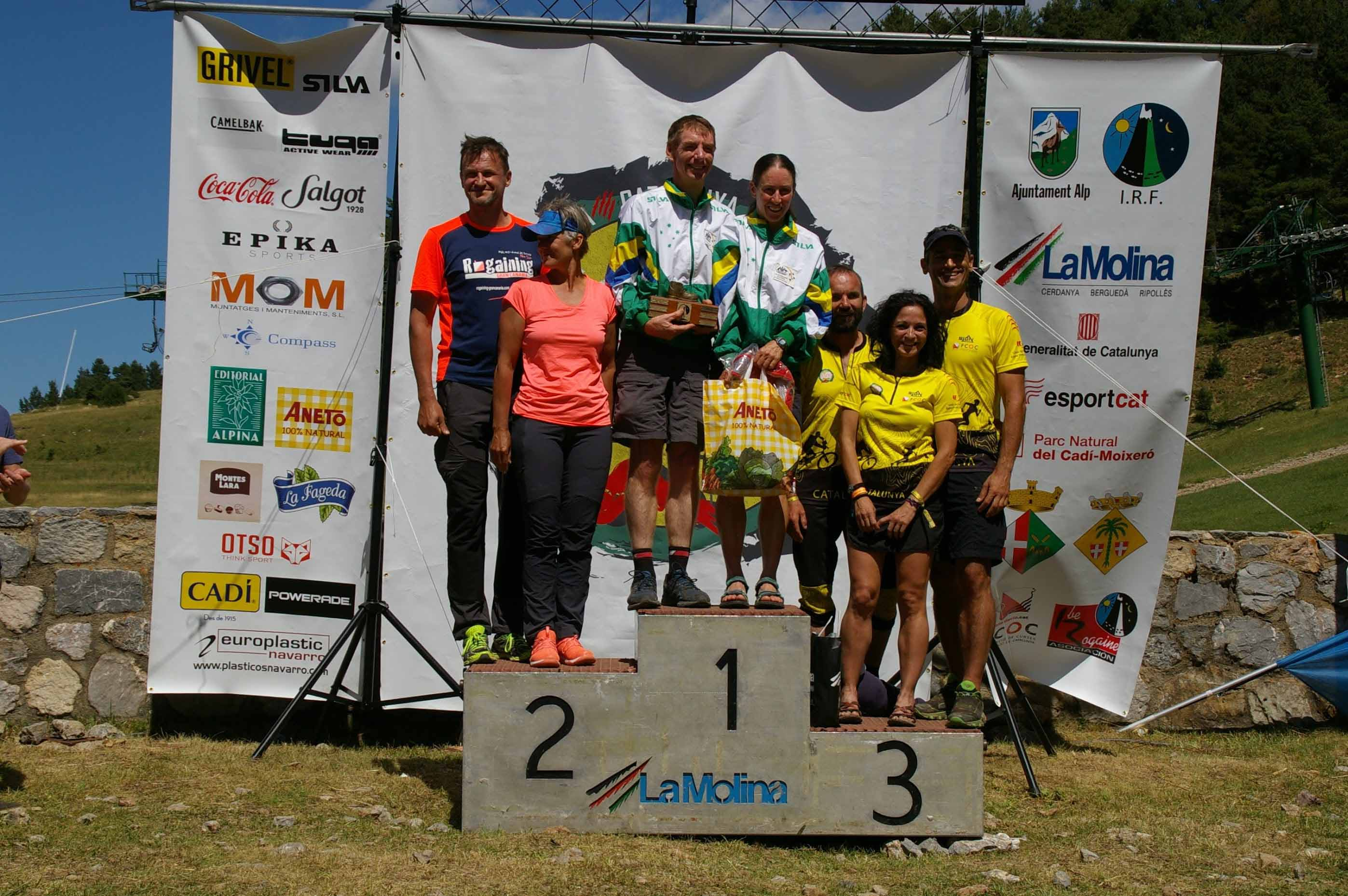XV trophy winners David and Julie on the podium
